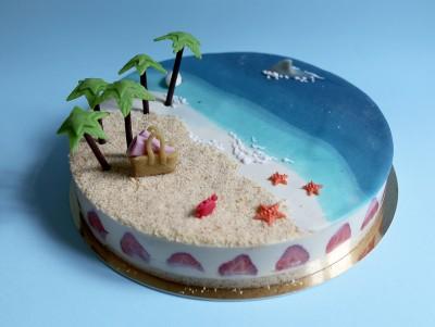 La plage aux cocotiers