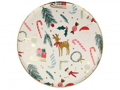 Grandes assiettes motifs de Noël
