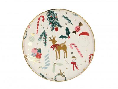 Petites assiettes motifs de Noël