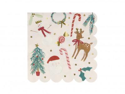 Serviettes motifs de Noël