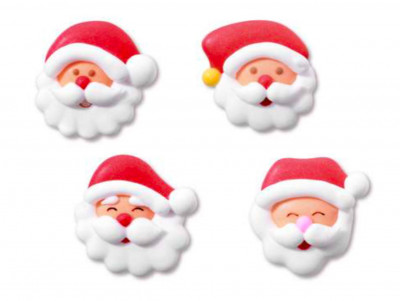 8 têtes de pères Noël