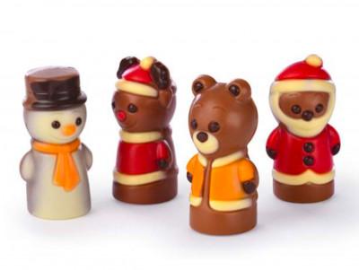 4 Personnages de Noël en chocolat