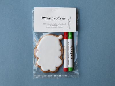 Sablé à colorier Père Noël