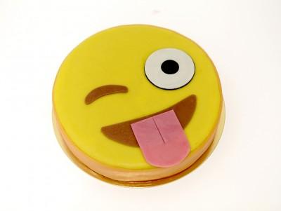 Gâteau Mon emoji avec Croustillant noisette, chocolat au lait & framboises