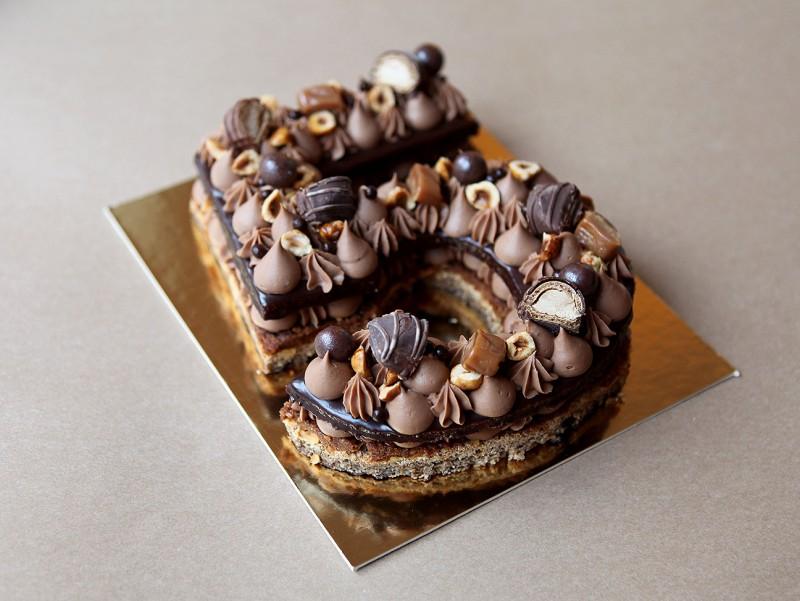 Gâteau Number Cake au chocolat