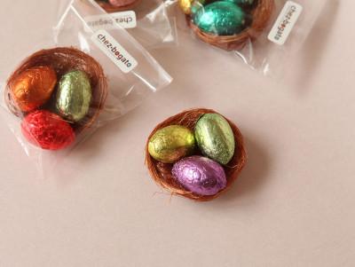 Mini-nid & 3 œufs