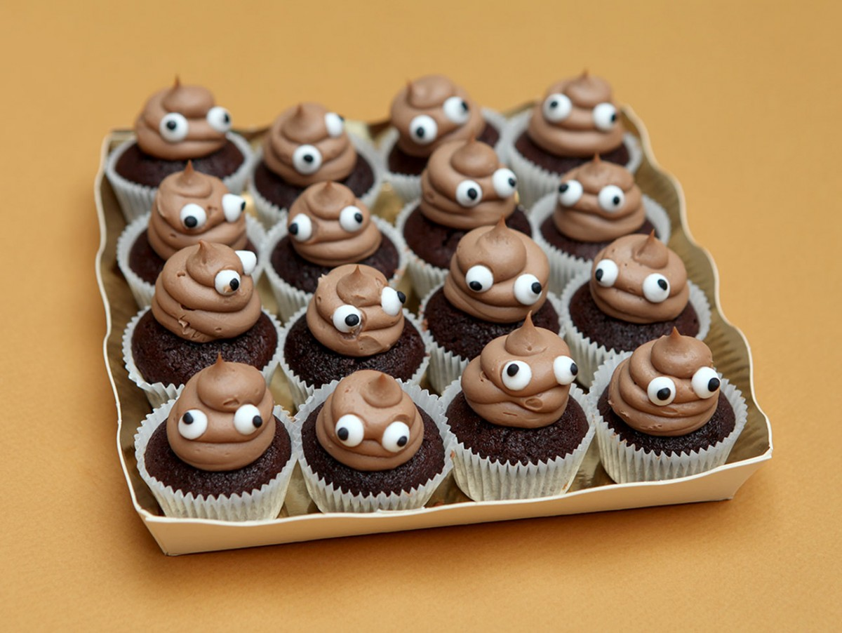Mini Cupcakes Poop