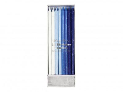 Bougies pailletées - Bleues