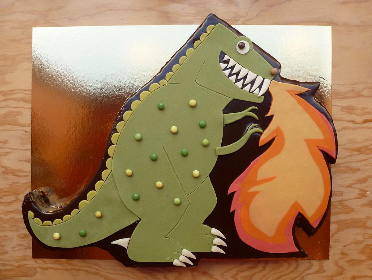 Dinosaure qui crache du feu