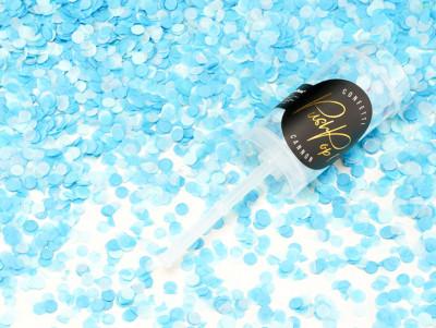 Confettis Push pop - Bleu
