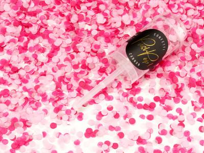 Confettis Push pop - Rose