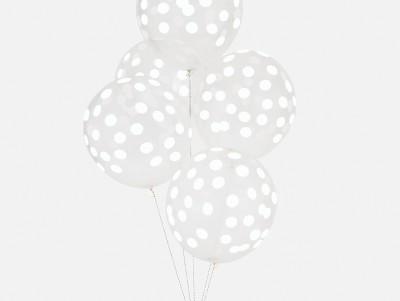 Ballons Confettis - blanc