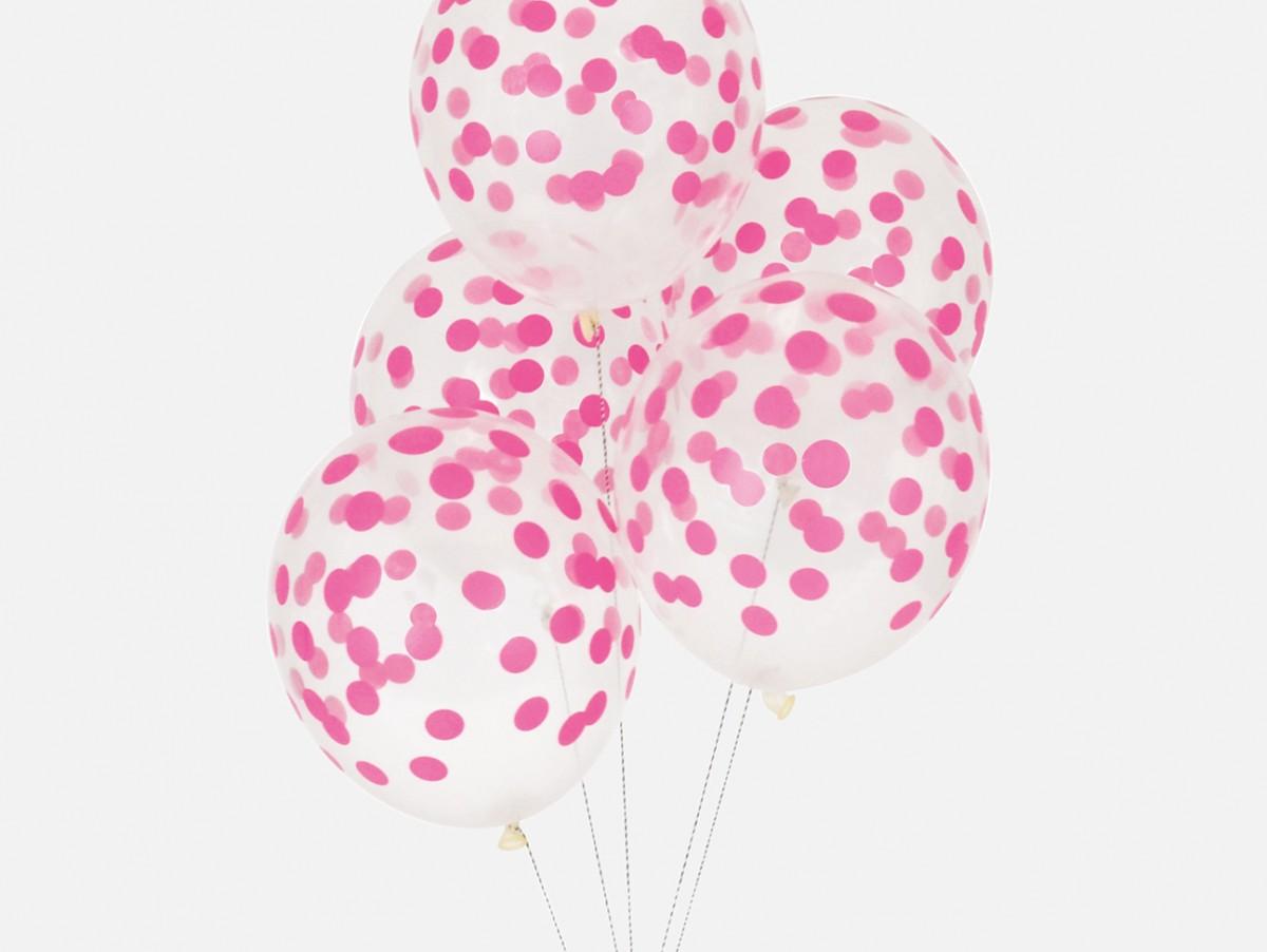 Ballons Confettis - fuchsia