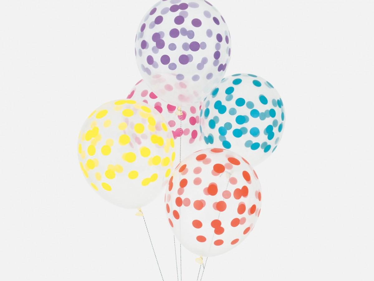 Ballons Confettis - multicolore