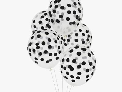 Ballons Confettis - noir