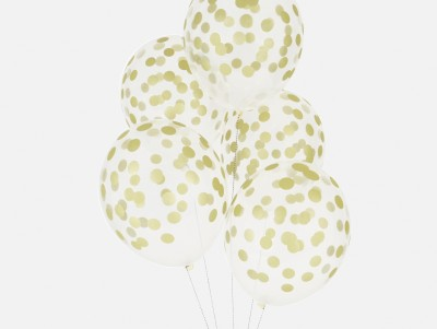 Ballons Confettis - or