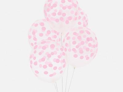 Ballons Confettis - rose