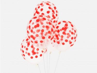 Ballons Confettis - rouge