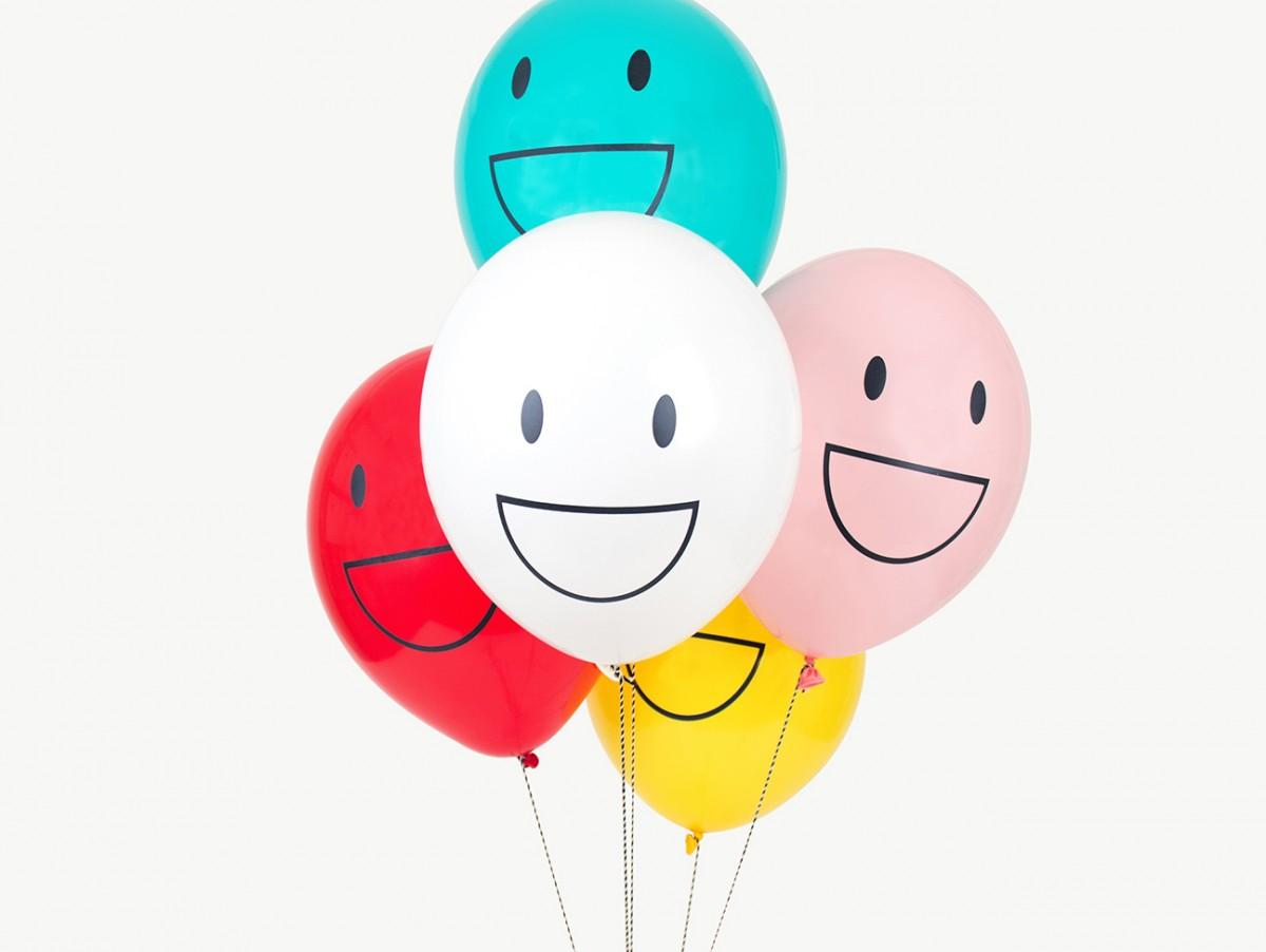 Ballons tatoués - Happy faces