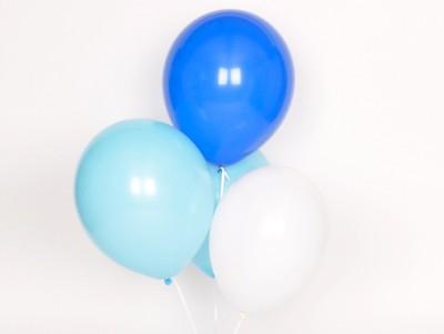 Ballons Trio bleu