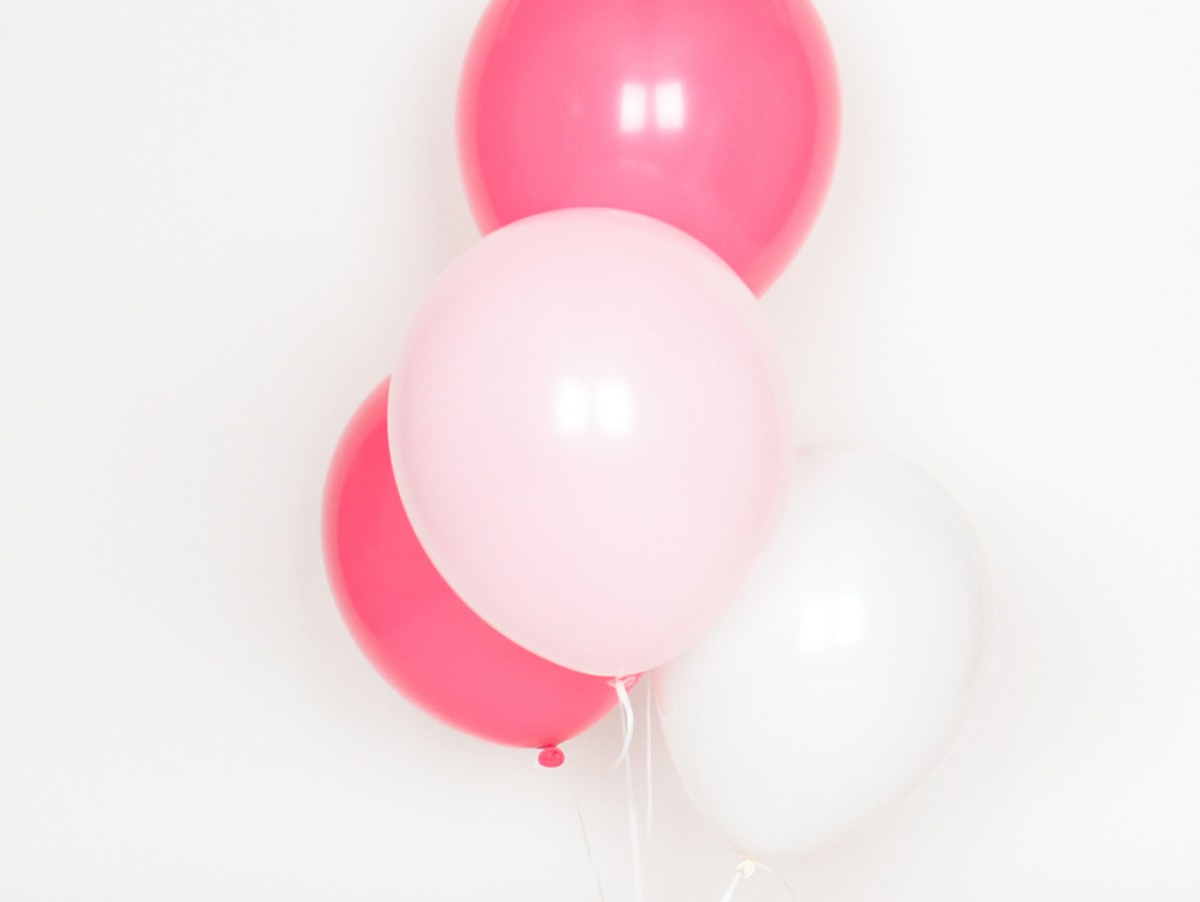 Ballons Trio rose