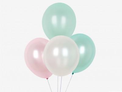 Ballons Trio métalisé Pastel