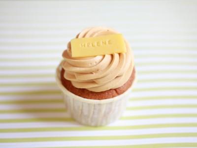 Cupcake Prénom & Caramel