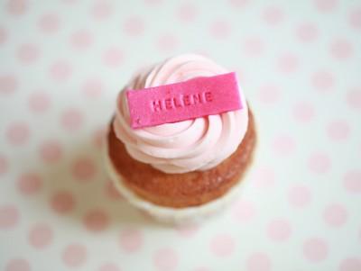 Cupcake Prénom & Framboise