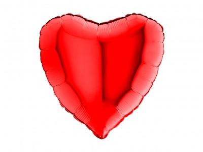 Cœur métalisé Rouge