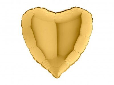 Cœur métalisé Or