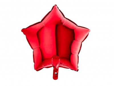 Étoile métalisée Rouge