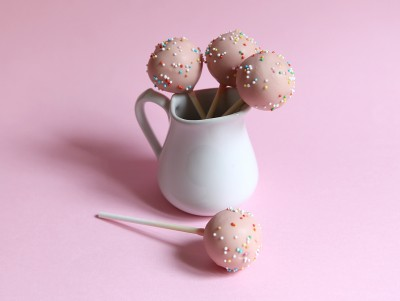 Cakepops confettis vanille