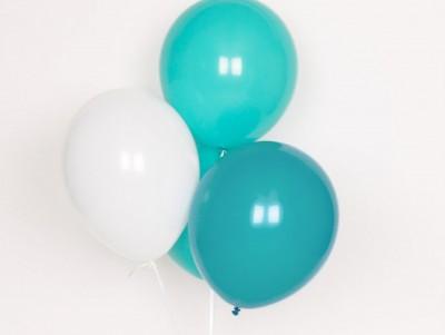 Ballons Trio aqua