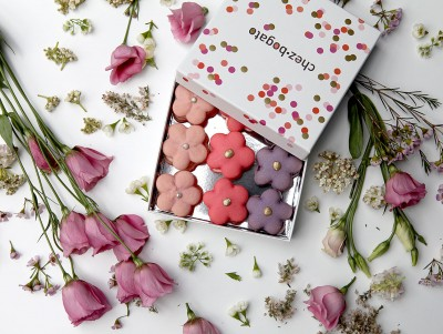 Coffret de macarons Fleurs