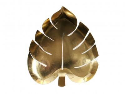 Assiette Feuilles dorées