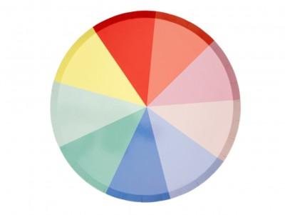 Grandes assiettes chromatiques