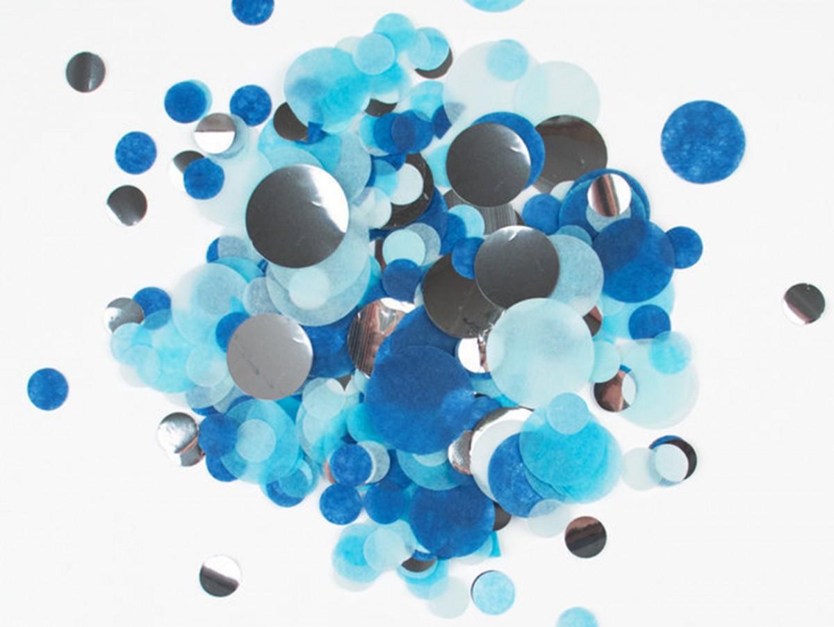 Confettis bleu & argent
