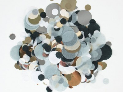 Confettis noir & argent