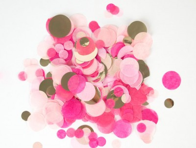 Confettis rose & or