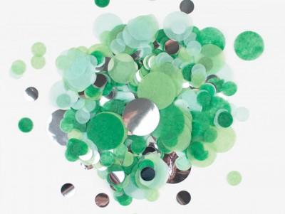 Confettis vert & argent