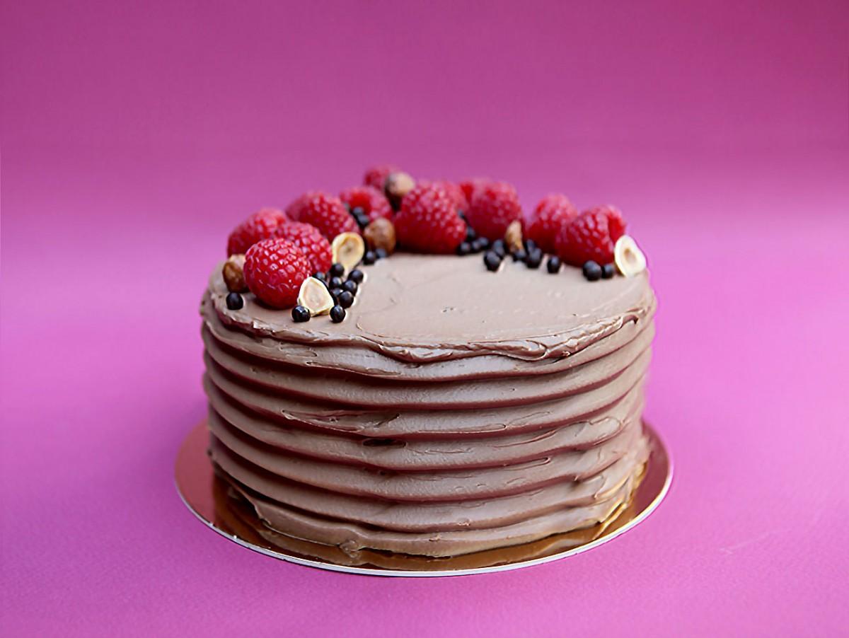 Gâteau au chocolat doux & à la framboise