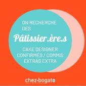 👩🍳Depuis 2009, Chez Bogato est une pâtisserie créative, spécialisée dans les gros gâteaux événementiels et sur-mesure pour les marques et les particuliers, basée exclusivement à Paris.⠀⠀⠀⠀⠀⠀⠀⠀⠀ ...⠀⠀⠀⠀⠀⠀⠀⠀⠀ Nous sommes aujourd'hui une équipe de 10 femmes créatives, dynamiques, sympathiques et gourmandes ! Si⠀⠀⠀⠀⠀⠀⠀⠀⠀ pour travailler Chez Bogato il faut bien sûr aimer la pâtisserie, les gens et la fête... il faut aussi viser l'excellence,⠀⠀⠀⠀⠀⠀⠀⠀⠀ savoir travailler en équipe et aimer relever des défis.⠀⠀⠀⠀⠀⠀⠀⠀⠀ Nous attendons de notre équipe de l'autonomie, une grande⠀⠀⠀⠀⠀⠀⠀⠀⠀ polyvalence et l'envie de participer aux nouveaux projets / challenges !⠀⠀⠀⠀⠀⠀⠀⠀⠀ ...⠀⠀⠀⠀⠀⠀⠀⠀⠀ En 2021, Chez Bogato prend un nouvel élan avec une nouvelle Pâtisserie-boutique-atelier au cœur du Marais⠀⠀⠀⠀⠀⠀⠀⠀⠀ et l'ouverture d'un Sweet Corner fin mai dans un Grand magasin parisien. Et pour assurer tout ça, nous⠀⠀⠀⠀⠀⠀⠀⠀⠀ avons besoin de nouveaux bras 💪 : are you reaaaadyyyy ?!⠀⠀⠀⠀⠀⠀⠀⠀⠀ ...⠀⠀⠀⠀⠀⠀⠀⠀⠀ Découvrez toutes les missions à pourvoir sur notre website, en bas de page, rubrique 'recrutement'... puis écrivez-nous pour bavarder par là : hello@chezbogato.fr⠀⠀⠀⠀⠀⠀⠀⠀⠀ ⠀⠀⠀⠀⠀⠀⠀⠀⠀ 🥳