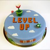 Tout ce qu'on se souhaite pour cette nouvelle année 🍄 Avec biscuit madeleine, crème mousseline à la vanille de Madagascar, fraises fraîches & Tagada. Bah oui, ça va tout de suite mieux.⠀⠀⠀⠀⠀⠀⠀⠀⠀ ...⠀⠀⠀⠀⠀⠀⠀⠀⠀ Gâteau Level Up, inspiré par #mariobros himself, à commander en ligne directement sur notre website à partir de 10 joueurs.